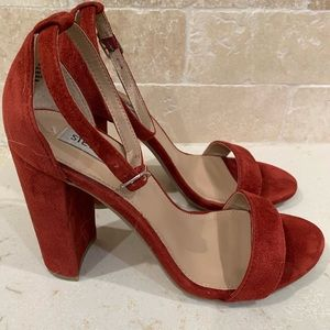 Steve Madden (Used) Red Suede Ankle Sandals Sz8